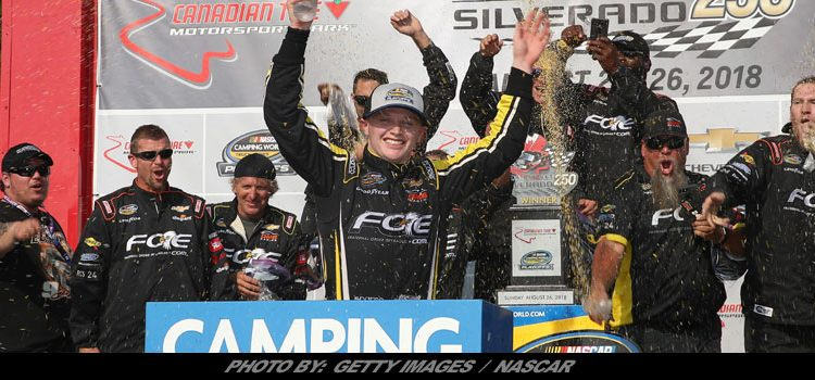 Tire Shop Open Late >> Justin Haley Wins Thrilling NASCAR Truck Playoff Race At Canadian Tire Motorsport Park; Stewart ...